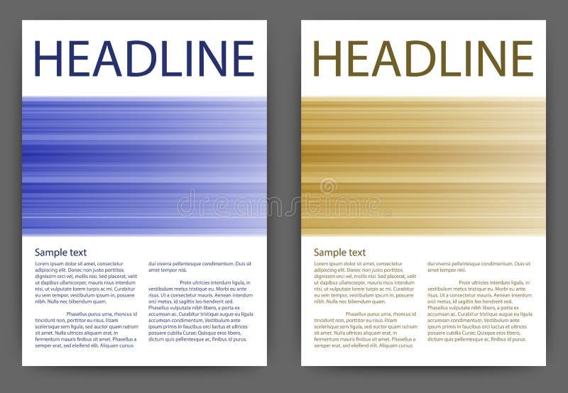 Αφηρημένο σχεδιάγραμμα προτύπων σχεδίου διανυσματικό για το μέγεθος βιβλιάριων ιπτάμενων φυλλάδιων περιοδικών A4 απεικόνιση αποθεμάτων