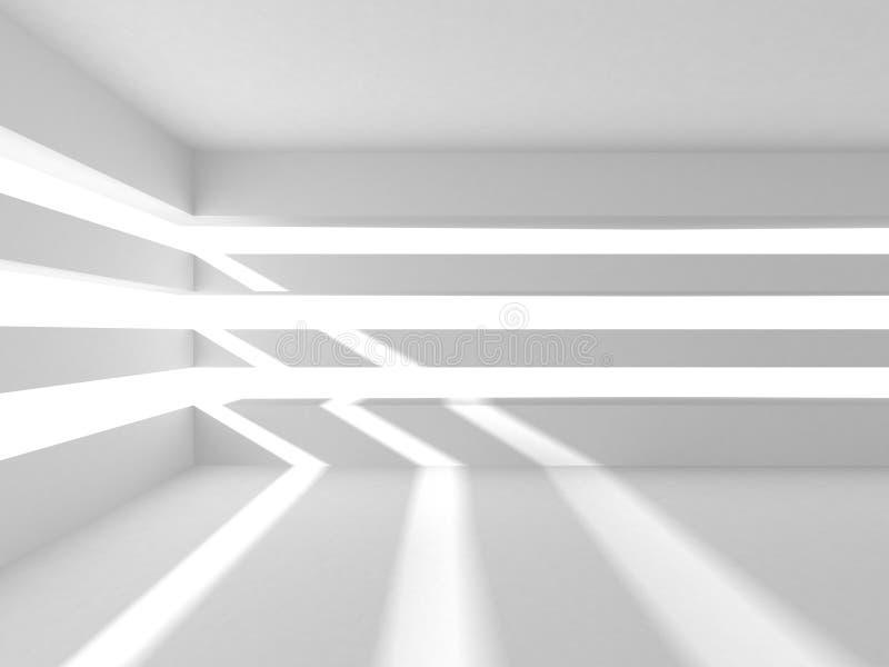Αφηρημένο σύγχρονο άσπρο υπόβαθρο αρχιτεκτονικής απεικόνιση αποθεμάτων