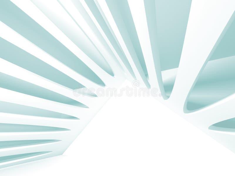Αφηρημένο σύγχρονο άσπρο υπόβαθρο αρχιτεκτονικής διανυσματική απεικόνιση