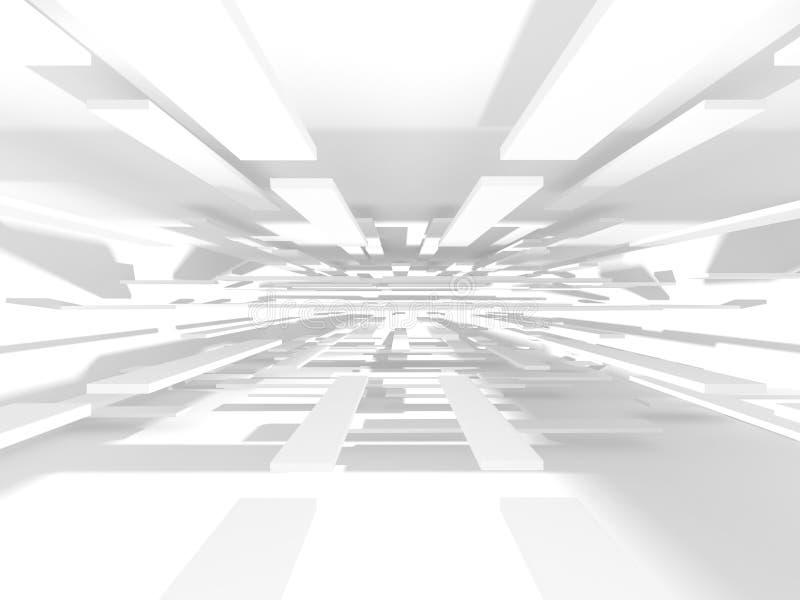 Αφηρημένο σύγχρονο άσπρο υπόβαθρο αρχιτεκτονικής ελεύθερη απεικόνιση δικαιώματος