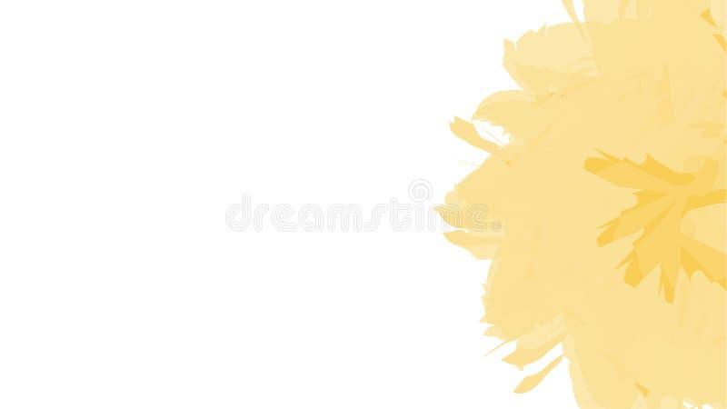 Αφηρημένο σύγχρονο πρότυπο watercolor λουλουδιών υποβάθρου κίτρινο r E απεικόνιση αποθεμάτων