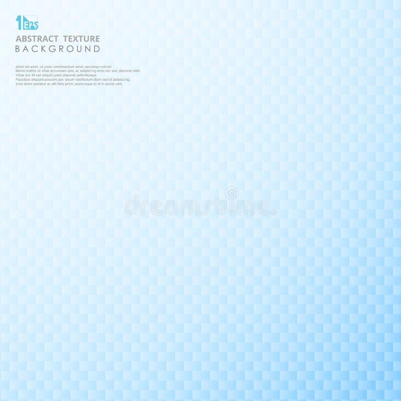 Αφηρημένο σύγχρονο σχέδιο του μπλε τετραγωνικού γεωμετρικού υποβάθρου θαμπάδων κλίσης απεικόνιση αποθεμάτων