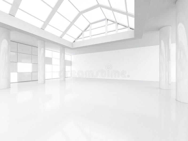 Αφηρημένο σύγχρονο υπόβαθρο αρχιτεκτονικής, κενός άσπρος ανοιχτός χώρος ελεύθερη απεικόνιση δικαιώματος