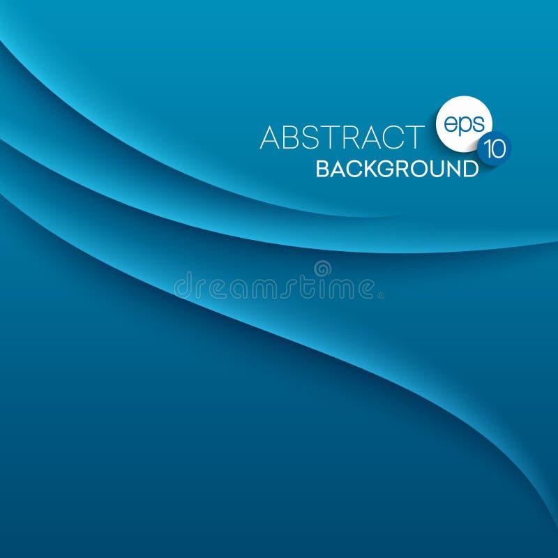 Αφηρημένο σύγχρονο υπόβαθρο με τα μπλε κύματα ελεύθερη απεικόνιση δικαιώματος