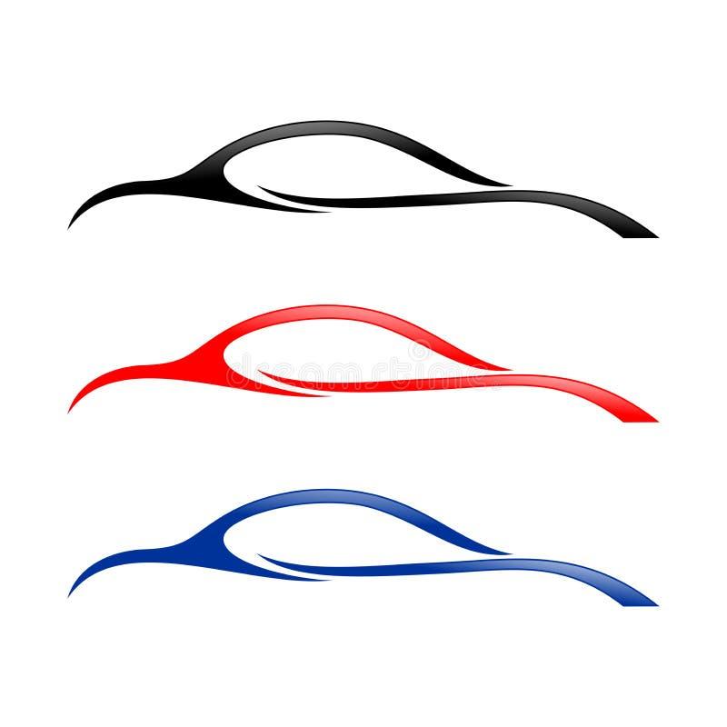 Αφηρημένο σύμβολο μορφών Swoosh αυτοκινήτων ελεύθερη απεικόνιση δικαιώματος