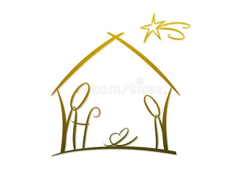 αφηρημένο σύμβολο nativity ελεύθερη απεικόνιση δικαιώματος