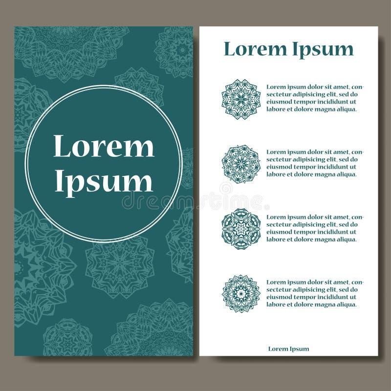 Αφηρημένο σύνολο προτύπων καρτών Πρόσκληση σχεδίων πλαισίων με τη θέση για το κείμενο Διακόσμηση δαντελλών, mandala Αραβικά, στοι διανυσματική απεικόνιση