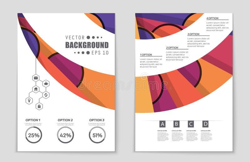 Αφηρημένο σύνολο υποβάθρου σχεδιαγράμματος Για το σχέδιο προτύπων τέχνης, κατάλογος, πρώτη σελίδα, ύφος θέματος φυλλάδιων προτύπω απεικόνιση αποθεμάτων
