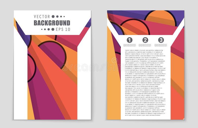 Αφηρημένο σύνολο υποβάθρου σχεδιαγράμματος Για το σχέδιο προτύπων τέχνης, κατάλογος, πρώτη σελίδα, ύφος θέματος φυλλάδιων προτύπω διανυσματική απεικόνιση
