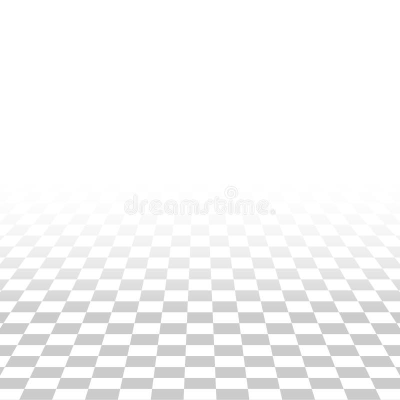 Αφηρημένο τετραγωνικό κεραμιδιών backgrou σύστασης προοπτικής άσπρο και γκρίζο απεικόνιση αποθεμάτων