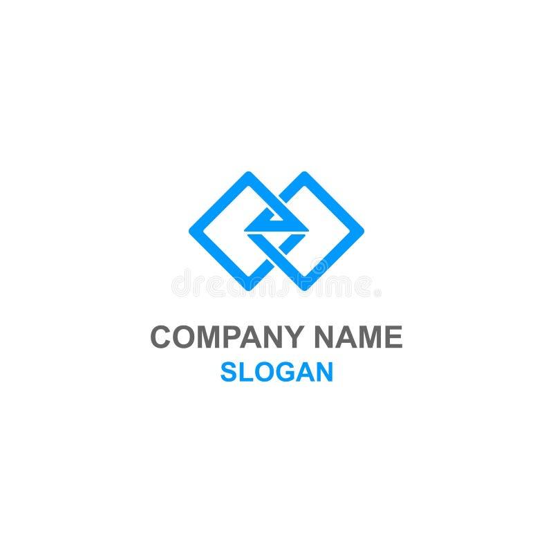 Αφηρημένο τετραγωνικό λογότυπο 2 απεικόνιση αποθεμάτων