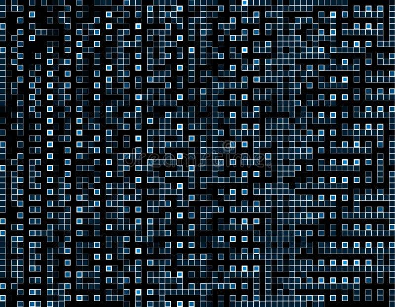 Αφηρημένο τετραγωνικό μπλε υπόβαθρο πλέγματος Αγαθό για το επιχειρησιακό έργο τέχνης τεχνολογίας Αφηρημένο υπόβαθρο μωσαϊκών σημε ελεύθερη απεικόνιση δικαιώματος