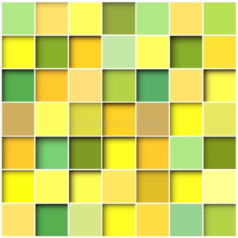 Αφηρημένο τετραγωνικό μωσαϊκό υποβάθρου απεικόνιση αποθεμάτων