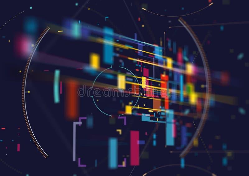 Αφηρημένο τεχνικό φόντο Μελλοντική αφηρημένη σχεδίαση υψηλής τεχνολογίας στοκ εικόνα