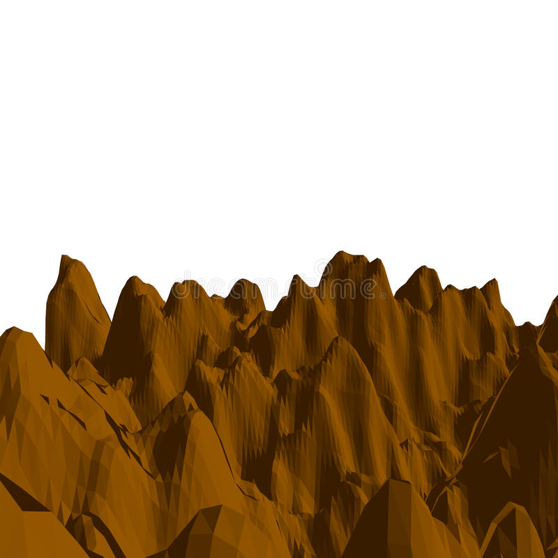 αφηρημένο τοπίο Επιφάνεια βουνών τρισδιάστατο διάνυσμα απ&e απεικόνιση αποθεμάτων