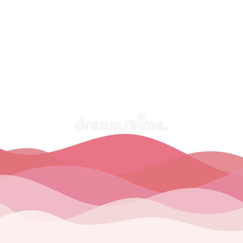 Αφηρημένο τοπίο με το γλυκό διανυσματικό υπόβαθρο χρώματος illustrait διανυσματική απεικόνιση