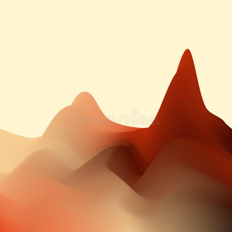 αφηρημένο τοπίο τρισδιάστατη διανυσματική ζωηρόχρωμη απεικόνιση διανυσματική απεικόνιση