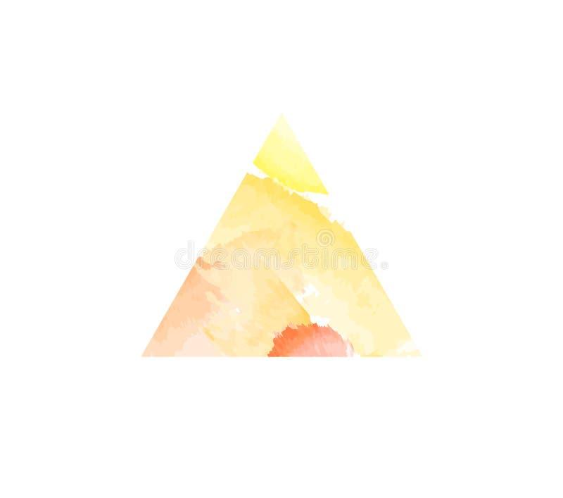Αφηρημένο τρίγωνο watercolor στοκ φωτογραφίες