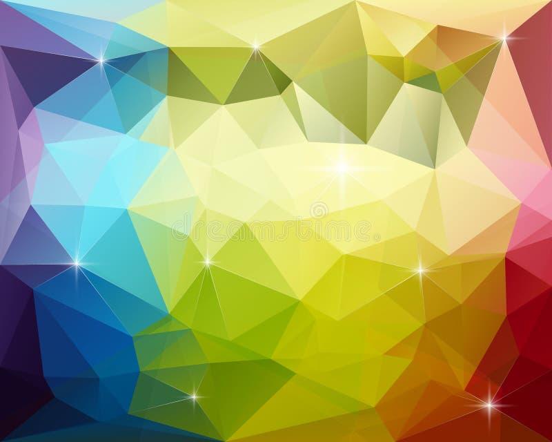 Αφηρημένο τριγωνικό διανυσματικό υπόβαθρο στοκ εικόνα με δικαίωμα ελεύθερης χρήσης