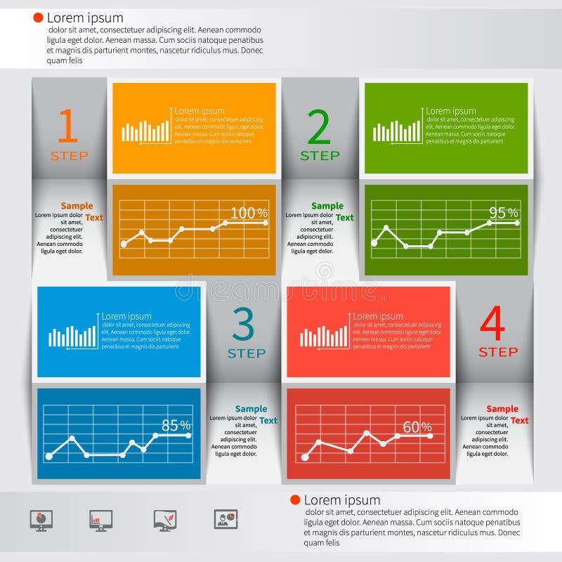 Αφηρημένο τρισδιάστατο έγγραφο Infographics διανυσματική απεικόνιση