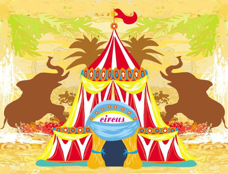 Αφηρημένο τσίρκο σε ένα υπόβαθρο grunge διανυσματική απεικόνιση