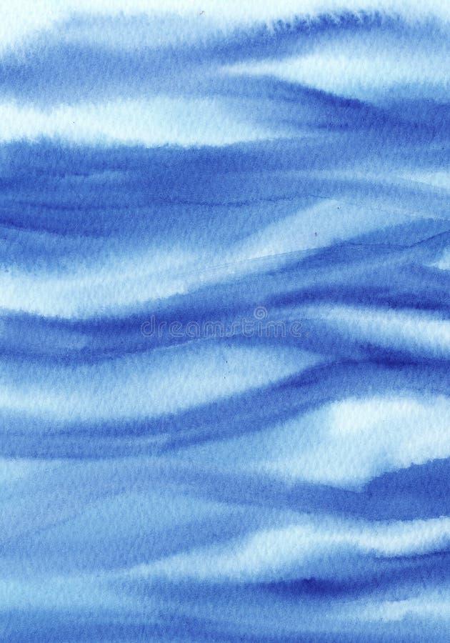 αφηρημένο υγρό τυρκουάζ και μπλε υπόβαθρο Watercolor Πλύσιμο Watercolor r σύσταση του κύματος θάλασσας ελεύθερη απεικόνιση δικαιώματος