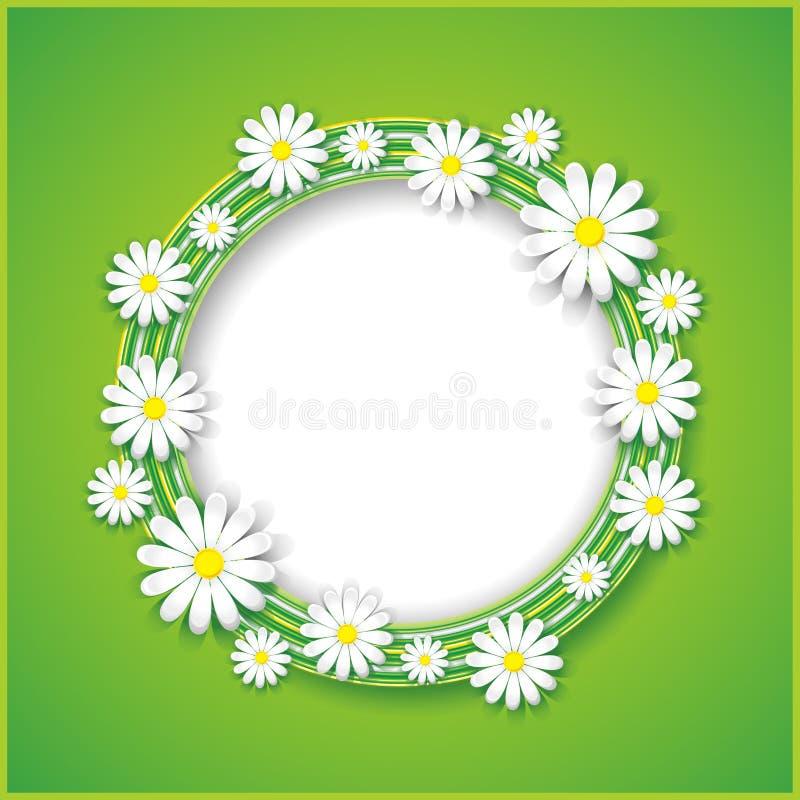Αφηρημένο υπόβαθρο άνοιξης ή καλοκαιριού με το λουλούδι διανυσματική απεικόνιση