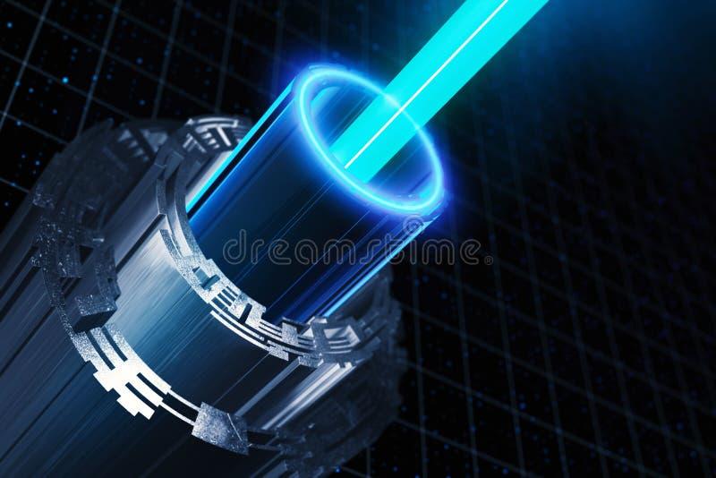 Αφηρημένο υπόβαθρο άξονων cyber διανυσματική απεικόνιση