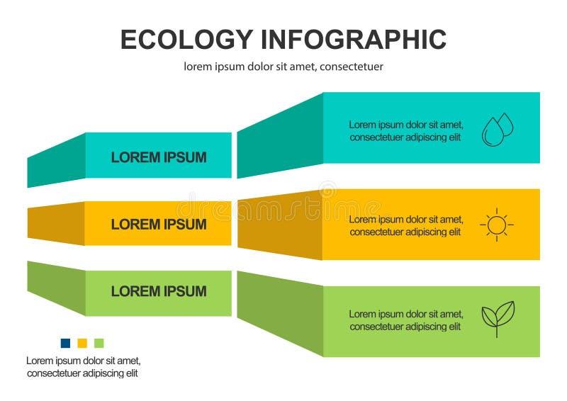 Αφηρημένο υπόβαθρο έννοιας οικολογίας Διανυσματική infographic απεικόνιση διανυσματική απεικόνιση