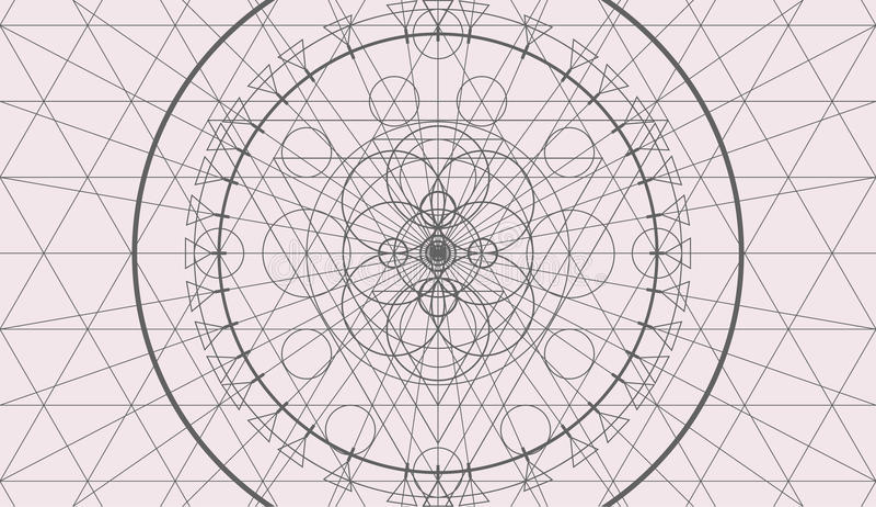 Αφηρημένο υπόβαθρο γεωμετρίας, άνευ ραφής σχέδιο απεικόνιση αποθεμάτων