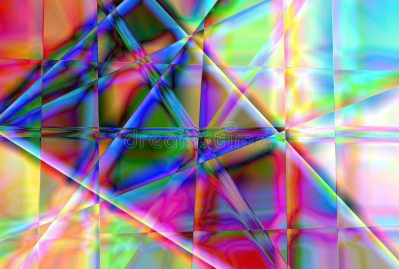 Αφηρημένο υπόβαθρο για το δημιουργικό σχέδιο, φαντασία σε ένα θέμα των απεικονισμένων πολύχρωμων σκιών του φωτός στα πρόσωπα ενός απεικόνιση αποθεμάτων