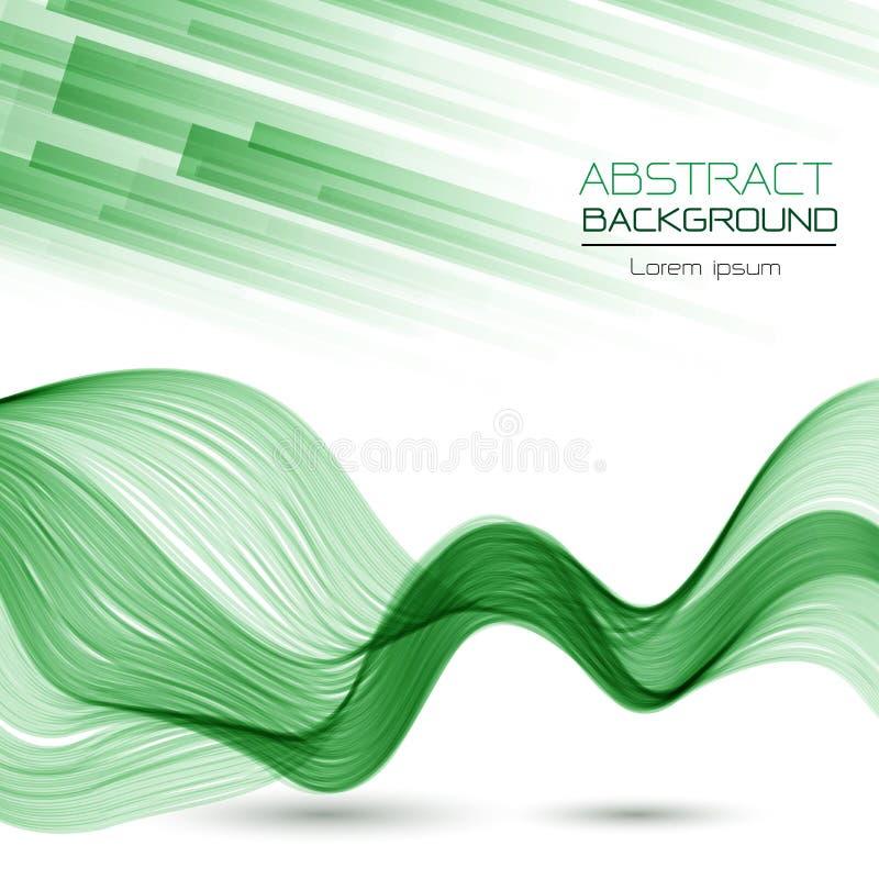 Αφηρημένο υπόβαθρο γραμμών επικάλυψης και κυμάτων καμπυλών Πράσινων Γραμμών vect διανυσματική απεικόνιση