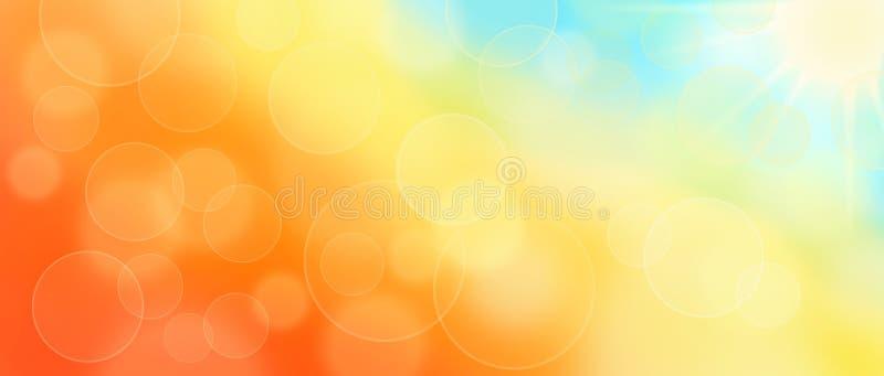 Αφηρημένο υπόβαθρο εμβλημάτων bokeh φθινοπώρου ηλιόλουστο διανυσματική απεικόνιση