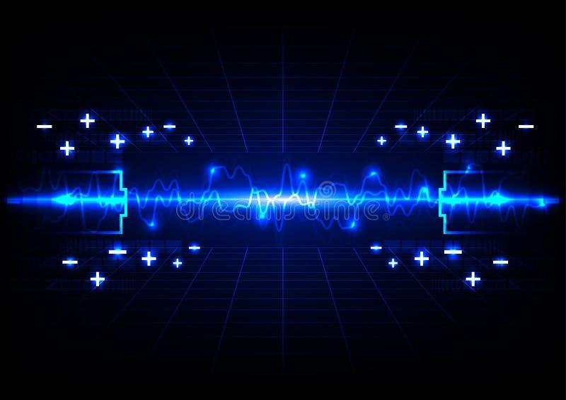 Αφηρημένο υπόβαθρο ενεργειακής τεχνολογίας φωτισμού μπαταριών απεικόνιση αποθεμάτων