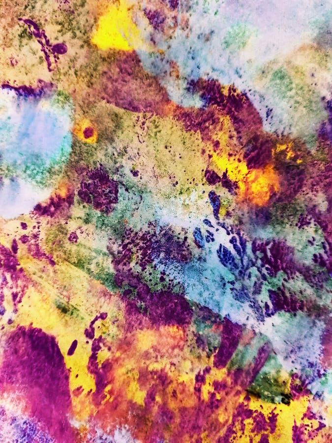 Αφηρημένο υπόβαθρο, ζωγραφισμένη στο χέρι σύσταση, ζωγραφική watercolor, πτώσεις του χρώματος, κηλίδες χρωμάτων Σχέδιο για τα υπό στοκ φωτογραφίες