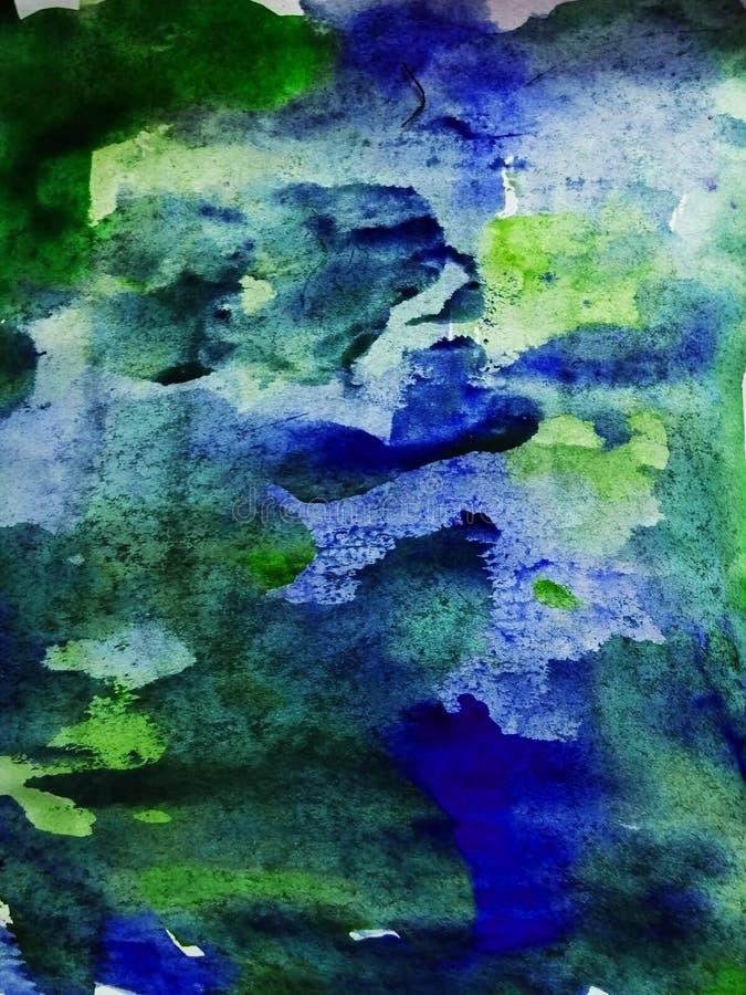 Αφηρημένο υπόβαθρο, ζωγραφισμένη στο χέρι σύσταση, ζωγραφική watercolor, πτώσεις του χρώματος, κηλίδες χρωμάτων Σχέδιο για τα υπό στοκ φωτογραφίες με δικαίωμα ελεύθερης χρήσης