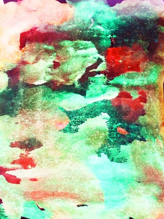 Αφηρημένο υπόβαθρο, ζωγραφισμένη στο χέρι σύσταση, ζωγραφική watercolor, πτώσεις του χρώματος, κηλίδες χρωμάτων Σχέδιο για τα υπό στοκ εικόνα