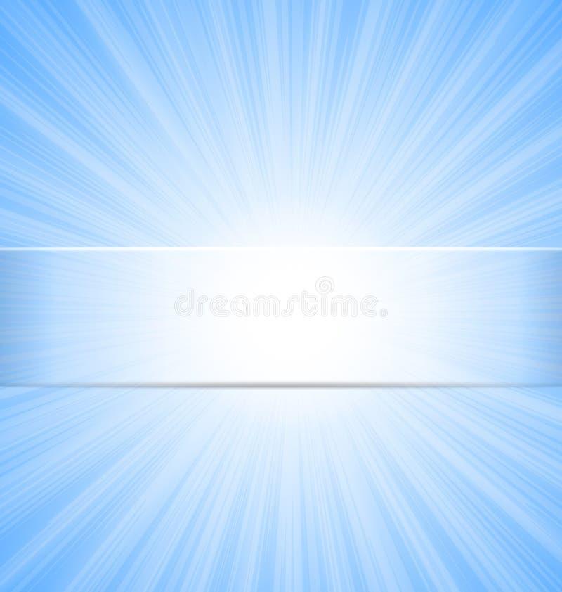 Αφηρημένο υπόβαθρο ηλιαχτίδων μπλε ουρανού ελεύθερη απεικόνιση δικαιώματος