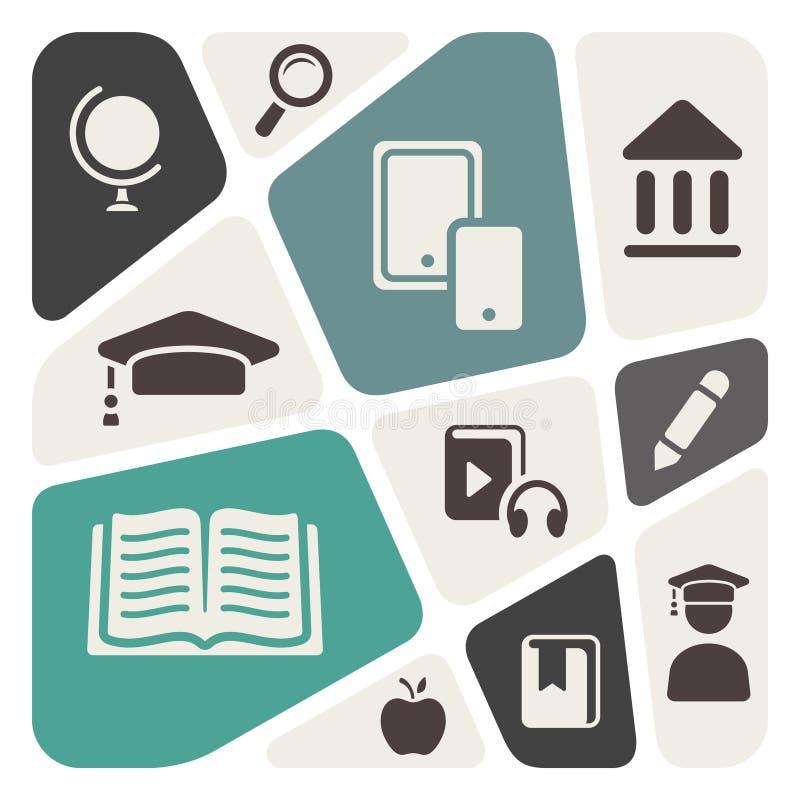 Αφηρημένο υπόβαθρο θέματος εκπαίδευσης απεικόνιση αποθεμάτων