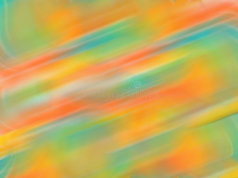 Αφηρημένο υπόβαθρο θαμπάδων κινήσεων κλίσης με τους μαλακούς τόνους χρώματος κρητιδογραφιών, πράσινος, μπλε, πορτοκαλής, κίτρινου στοκ εικόνα