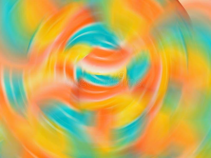 Αφηρημένο υπόβαθρο θαμπάδων κινήσεων κλίσης με τους μαλακούς τόνους χρώματος κρητιδογραφιών, πράσινος, μπλε, πορτοκαλής, κίτρινου στοκ φωτογραφία