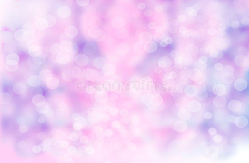 Αφηρημένο υπόβαθρο θαμπάδων: Όμορφο πορφυρό Bokeh στοκ εικόνες
