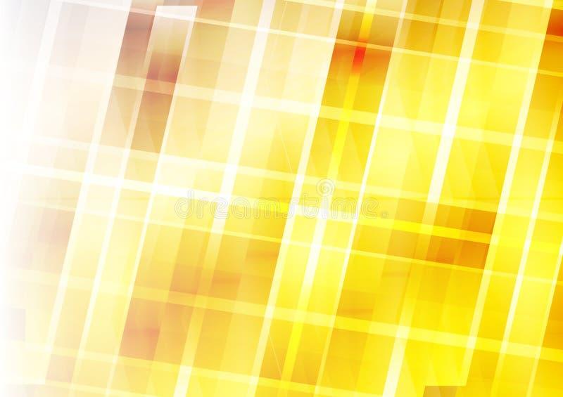 Αφηρημένο υπόβαθρο - κίτρινα στοιχεία γεωμετρικού σχεδίου απεικόνιση αποθεμάτων