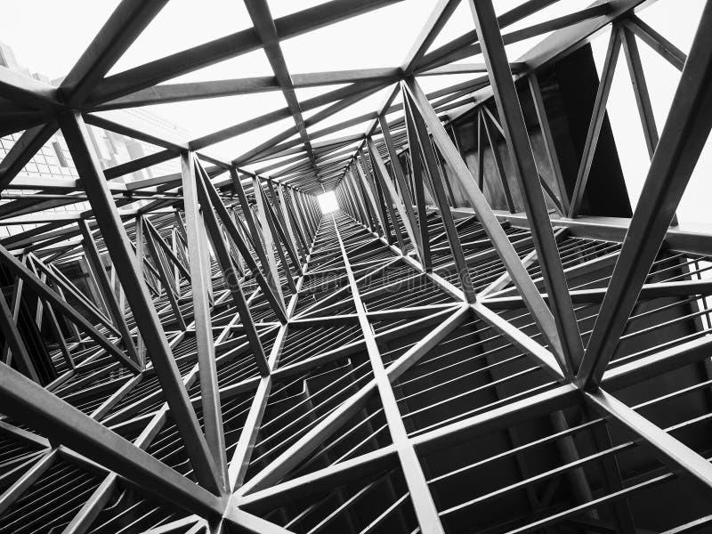 Αφηρημένο υπόβαθρο κατασκευής αρχιτεκτονικής δομών χάλυβα στοκ εικόνα