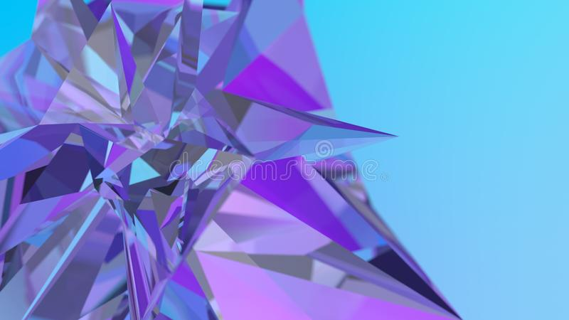 Αφηρημένο υπόβαθρο κρυστάλλου, ακτινοβόλος σύσταση, εδροτομημένος πολύτιμους λίθους πολύτιμος λίθος απεικόνιση αποθεμάτων