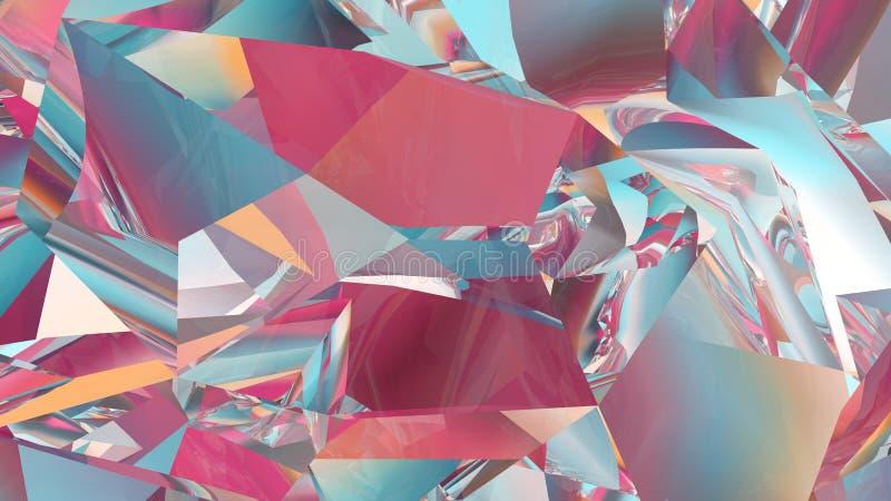 Αφηρημένο υπόβαθρο κρυστάλλου, ακτινοβόλος σύσταση, εδροτομημένος πολύτιμους λίθους πολύτιμος λίθος, polygonal ταπετσαρία απεικόνιση αποθεμάτων