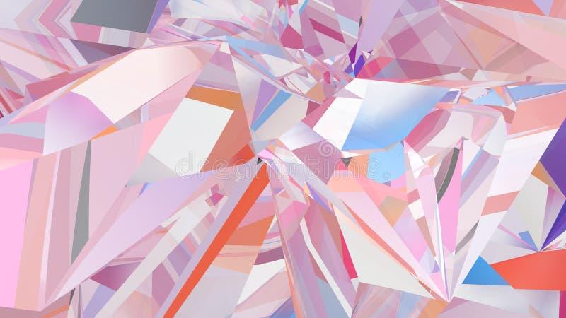 Αφηρημένο υπόβαθρο κρυστάλλου, ακτινοβόλος σύσταση διανυσματική απεικόνιση