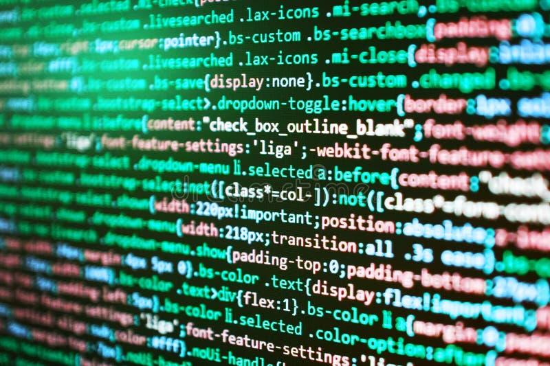 Αφηρημένο υπόβαθρο κωδικού πηγής Οι διευθυντηες προγράμματος απασχολούνται στη νέα ιδέα Επιχειρησιακή επιχείρηση ΤΠ Δομή ιστοχώρο στοκ φωτογραφίες με δικαίωμα ελεύθερης χρήσης