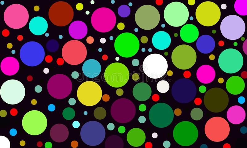 Αφηρημένο υπόβαθρο κύκλων ουράνιων τόξων σύγχρονο γεωμετρικό Διαστιγμένο ύφος προτύπων σύστασης με την κλίση r ελεύθερη απεικόνιση δικαιώματος