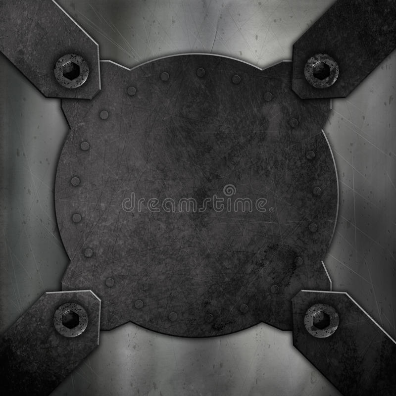 Αφηρημένο υπόβαθρο μετάλλων διανυσματική απεικόνιση